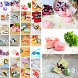 Discount mini wedding gift soap - Wholesale personalized gift box Handmade Soap Gift Wedding companion gift Soaps creative hardcover mini soaps Party Favo
