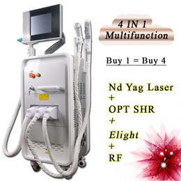 Laser Hair Face Canada - Powerful 4 In 1 elight ipl hair removal machine q switch tattoo removal laser Hair acne Removal devices rf face lift
