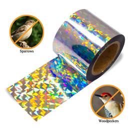 $enCountryForm.capitalKeyWord Australia - Improved Bird Scare Tape Holographic Repellent Design Double Sided Reflective Scarecrow Ribbon Flash Bird Deterrent Tape Scare Birds Away