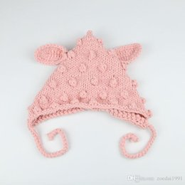 Photos babies online shopping - Newborn photography photo props baby elves lambs hat crochet cotton gray white white baby hat