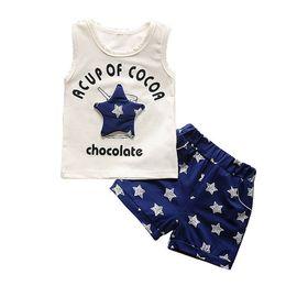 $enCountryForm.capitalKeyWord Australia - quality children boys clothing sets summer cartoon star suit set for baby boy stars vest+shorts 2pcs clothing toddler suits