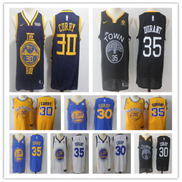 c2584e2062f 2019 Men New Golden jersey State Stephen 30 Curry Kevin Warriors 35 Durant  Jerseys size S-XXL