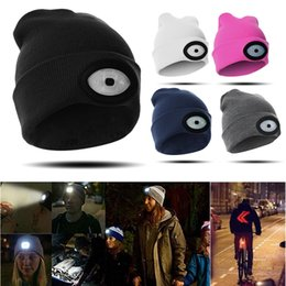 $enCountryForm.capitalKeyWord Australia - High Powered LED Light Unisex Beanie Hat with USB Rechargeable for Outdoor Camping Hiking New