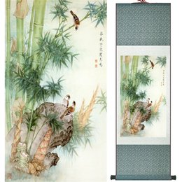 $enCountryForm.capitalKeyWord Canada - Birds And Flower Art Painting Home Office Decoration Chinese Scroll Painting Birds Painting Ltw121526
