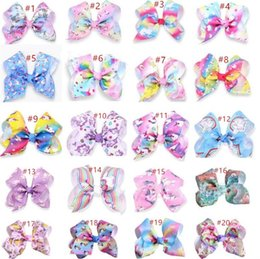"""$enCountryForm.capitalKeyWord NZ - 5"""" Large Jo Jo Clip Grosgrain Ribbon Bow With Alligator Clips For Kids Hairpins With Rhineston Hair Accessory"""