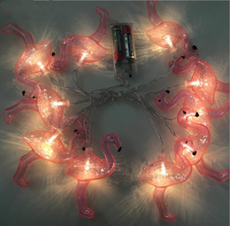 $enCountryForm.capitalKeyWord Australia - New Arrivel Red Flamingo 80LED Bulbs String Light Battery LED Holiday Lighting LED Strings Home Party Decor
