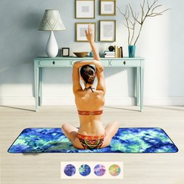 Garden pads online shopping - Microfiber Beach Towel Lounger Mate Beach Towel Single Layer Tie dye Sunbath Towel Holiday Garden Beach Towels Outdoor Pads CCA11690