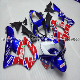 929 Motorcycle Australia - 23colors+5Gifts Injection mold red blue star motorcycle Fairings hull for HONDA CBR929RR 2000-2001 CBR 929 RR 00 01 ABS motor panels