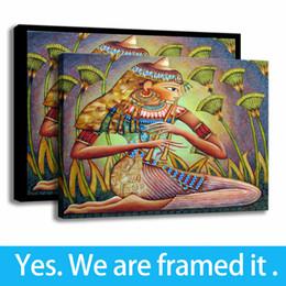 $enCountryForm.capitalKeyWord Australia - Modern Painting Egypt Woman Art Porch Decor Print Character on The Canvas Framed Art - Ready To Hang - Support Customization