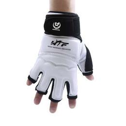 $enCountryForm.capitalKeyWord UK - New Kick Boxing Gloves MMA Gloves Muay Thai Training Gloves MMA Boxer Fight Boxing Equipment Half Mitts PU Leather Black