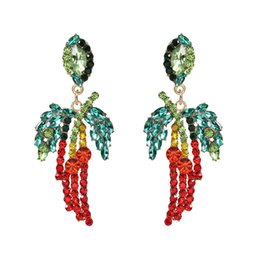 $enCountryForm.capitalKeyWord UK - New Design Multicolor Crystal Coconut Tree Charm Dangle Earrings For Women Fashion Jewelry Bohemian Style Collection Earrings