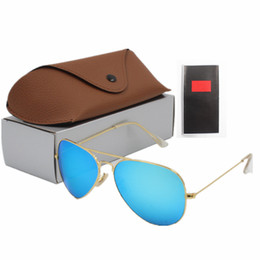 China Sunglasses brand fashion designer to create a woman and men's fashion glasses 14 kinds of color glass brown box free shipping cheap sunglasses free shipping suppliers