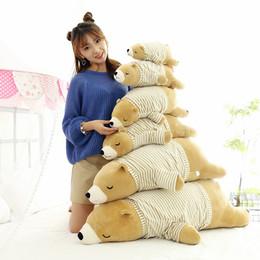White stuffed animal bears online shopping - 2019 New Cartoon cute soft white bear plush toy girl sleeping pillow dolls Stuffed Animals toys