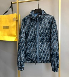 Wholesale Luxury designer Men Casual Spring Autumn Lightweight Jacket 2020 New Arrival Hooded logo Zipper up Jackets Outwear fffendi