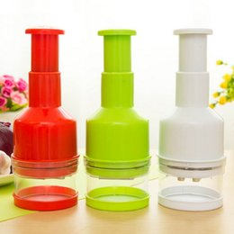 $enCountryForm.capitalKeyWord Australia - Vegetable Cutter Hand Pressure Kitchen Garlic Chopper Device Cut Onion Cutter Vegetable Stainless Steel Plastic Tool