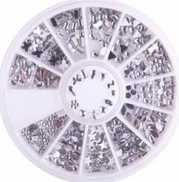 $enCountryForm.capitalKeyWord Australia - 1 Wheel 12 Shapes Acrylic Nail Gems Rhinestones For Silver Waterdrop Flower Star Heart Nail Art Decorations Accessoires