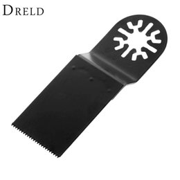 dremel saw Canada - Saw Blade 1Pc 32mm Saw Blade HCS Oscillating Multi Tools for Metal Wood Cutting Woodworking for Renovator Fein Dremel Bosch Power Tools