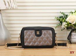 Bulk Plain Bags Canada - Women's handbag classic small series of fashion hot mom Lady chain bag elegant bulk corrugated woman Leather Shoulder purse handbags bag C69