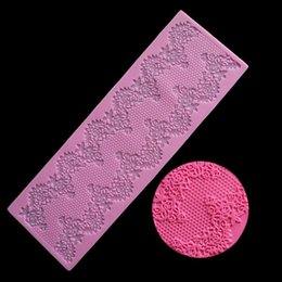 Silicone lace for cake online shopping - 1 PC Lace flower pattern border Silicone Mold Cake Decorating Tools Baking Tools For Fondant Cakes Wedding Tools