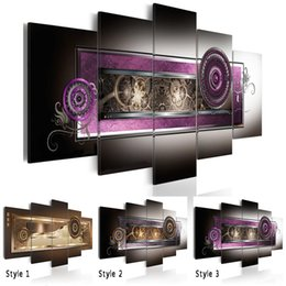 life size pictures Australia - 5PCS Set Fashion Wall Art Canvas Painting Abstract Patterns of National Characteristics Modern Home Decoration,Choose Color And Size(No Fram
