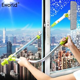 Wholesale Eworld Hot Upgraded Telescopic High rise Window Cleaning Glass Cleaner Brush For Washing Window Dust Brush Clean Windows Hobot T190704