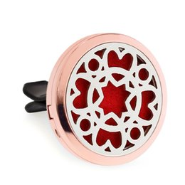 air figure Australia - hearts more options rose gold Magnet Open Car Diffuser vent clip 30mm Essential Oil Car Perfume Locket air freshener 10pcs free oil pads