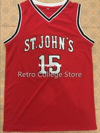 140c4d97f 15 Ron Artest St John s University College Men s Basketball Jersey All Size  Embroidery Stitched Customize any name and name XS-6XL vest Jers