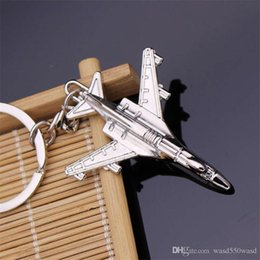 $enCountryForm.capitalKeyWord Australia - mini Classtic Fashion Collection 3D Silver Aircraft Titanium Key Chain Car Keychain Ring Keyfob Metal Keyrings