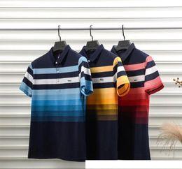 $enCountryForm.capitalKeyWord Australia - Designer Polo Cotton High Quality Color Rainbow Printing Breathable Men's Polo Luxury Casual Mens Designer T Shirts Asian Plus Size M-3