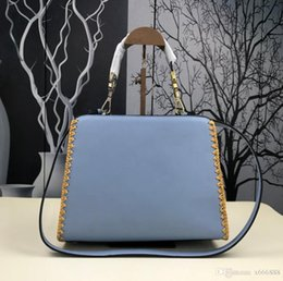 $enCountryForm.capitalKeyWord NZ - 2017 High Quality Fashion Women Messenger Bags Brand Design Ladies Chain Shoulder Bag Blue Pearl Leather Geometric Handbag For Girl