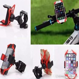 Wholesale Universal Bicycle Mobile Phone Stand Holders Bike Cellphone Support Clip Car Bike Mount Flexible Phone Holder Extend For Iphone GPS