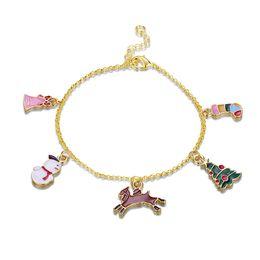 $enCountryForm.capitalKeyWord Australia - New Fashion Romantic Style Gold Plated Lobster Charm Bracelets Link Chain,Christmas Tree,Socks,Snowman,For Women Lady Girl Jewelry