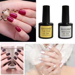 Diamond Base Australia - Women Ibcccndc Top Base Coat Uv Diamond Nail Gel Polish Primer Nail Art art decorations manicure tools flakes #9