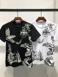 Cotton Fabric Dragons Australia - Giv spring and summer new fashion men's t-shirt with cotton fabric breathable comfort painting dragon print pattern