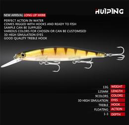 $enCountryForm.capitalKeyWord Australia - New 3D Fish Long Lip Suspend Minnow Jerkbaits 13g 12.5cm Vibration Swimming ABS Plastic Laser baits bass fishing lure