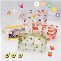 $enCountryForm.capitalKeyWord Australia - transparent portable storage bag net red cute flower cosmetic bag large capacity girl travel waterproof wash bag ikiru