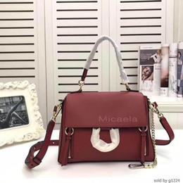 Korean bag bucKle online shopping - Micaela Korean Style Circle Ring Buckle Crossbody Bags Lady Designer Cowskin Shoulder Bag Real Handbag For Women