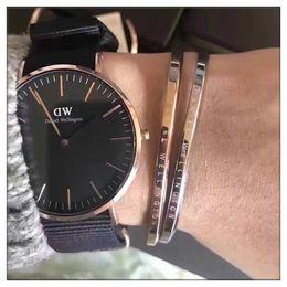 $enCountryForm.capitalKeyWord Australia - New Mens womens Daniel Wellington watches 40mm Men watches 36 Women Watches DW Luxury Quartz Watch Female Clock Relogio Montre Femme