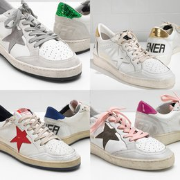 a78043ab65ec Women Designer Sneakers GGDB Golden Goose Fashion Dirty Shoes Ball Star Calf  Genuine Leather Casual Shoe White Pink Green Men Running Shoes
