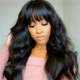 $enCountryForm.capitalKeyWord Australia - Human Hair Capless Wigs-Human Hair Capless Wigs Human Hair Body Wave Style Side Part Long Machine Made Wig Wome For Women Black Full