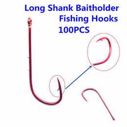 $enCountryForm.capitalKeyWord Australia - ishing fish hook 100pcs High Carbon Steel Long Shank Baitholder Fishing Hooks 9293 Chemically Sharpened with Free Shipping offset fishho...