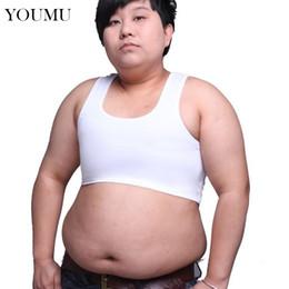 ccf5d46207 Plus Size L-6xl Les Lesbian Tomboy Crop Vest Tank Tops Short Breast Chest  Binder New Oversized Underwear 906-656 Q190403