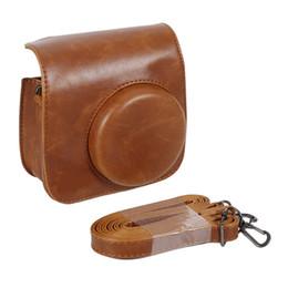wholesale instax camera 2019 - Classic 8 Colors Leather Camera Strap Bag Case Cover Pouch Protector For Polaroid Photo Camera For Fuji Instax Mini 8 di