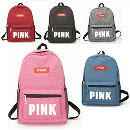 5 color pink letter backpacks love pink Travel Double Shoulders Backpack  Fashion Students Teenagers Girls School Bag outdoor duffle bags new 9d4722d38b587
