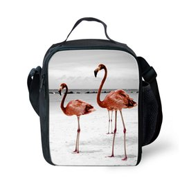 Wholesale Cute Flamingo Animal Pattern Prints School Picnic Bags for Girls Boys Kids Lunch Box Thermal Insulated Cooler Lunch Case Termica