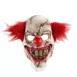 animal face masks Australia - New Halloween scary animal props latex party masks unisex Clowns with rotten faces scary Halloween spooky show props wholesale and retail