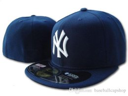 Blue Ny Hat Australia - Free Shipping Top Quality Claasic Blue Color NY fitted Hats Men's in Baseball Caps Brands