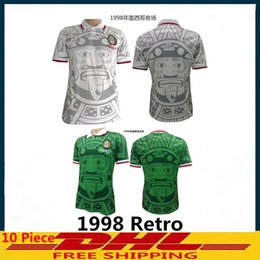 94d10cba2 Discount mexico 1998 jersey - Thai 1998 Mexico Retro Jerseys Classic Vintage  Soccer jersey Home Green
