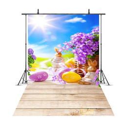 backgrounds portrait photography 2019 - MEHOFOTO Easter Eggs Background Spring Meadow Flowers Photography Backdrop Wooden Board Baby Newborn Child Kid Portrait