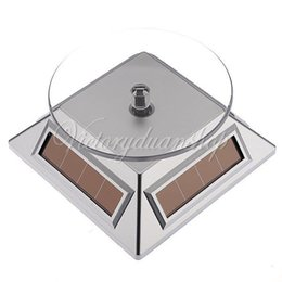 $enCountryForm.capitalKeyWord Australia - Rotating Solar Powered Cell Phone Watch Jewelry Turntable Turn Table Plate Display Stand,
